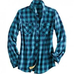 crosscut flannel blue