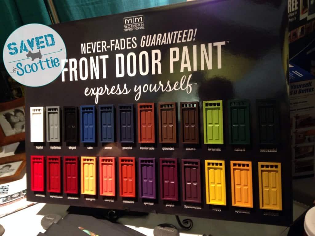 Modern Masters front door paint