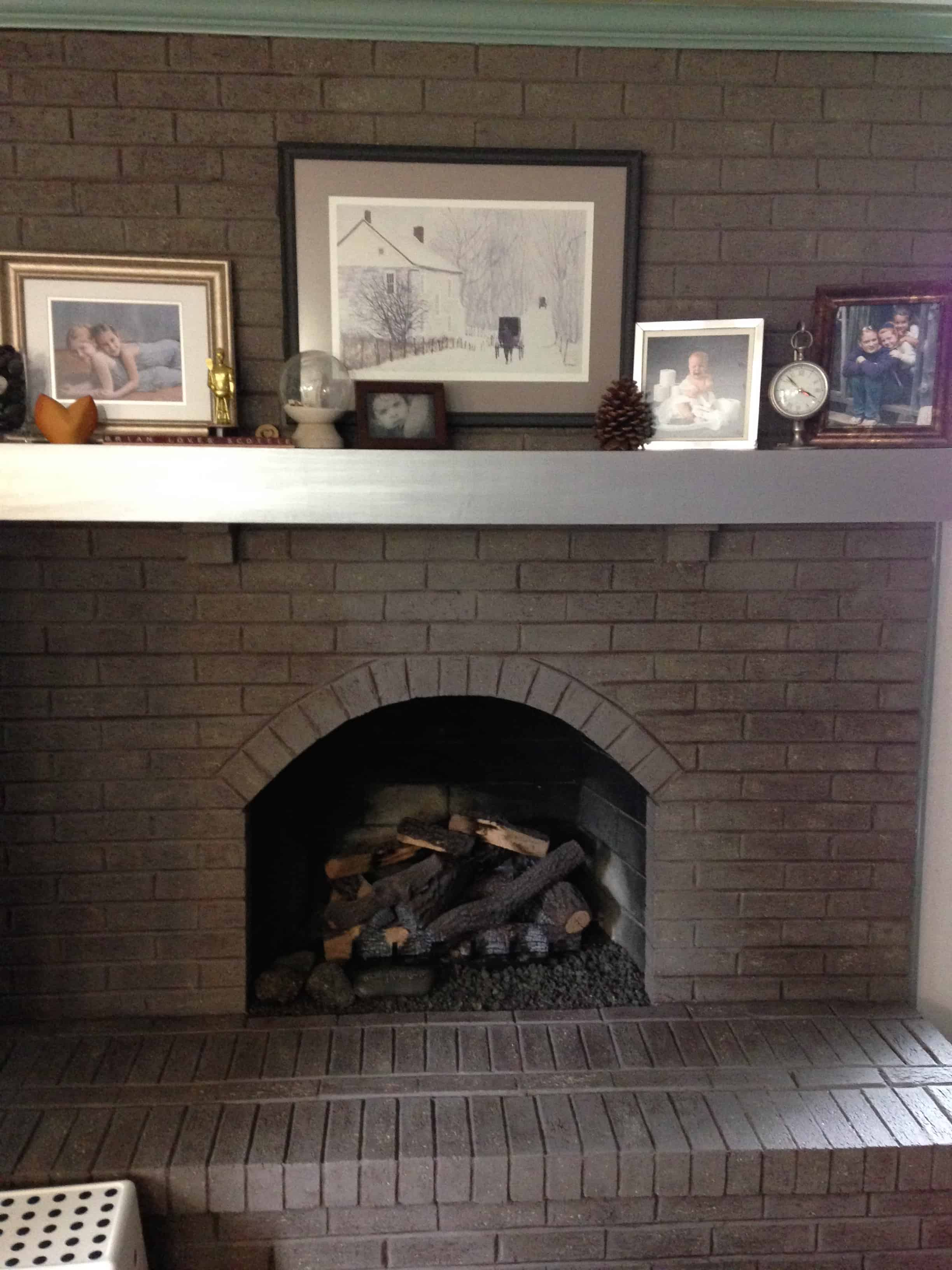 My fireplace makeover Saved by Scottie