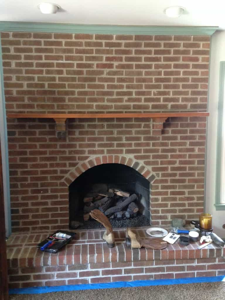 fireplace before sxs