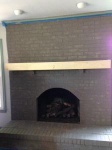 fireplace shelf build