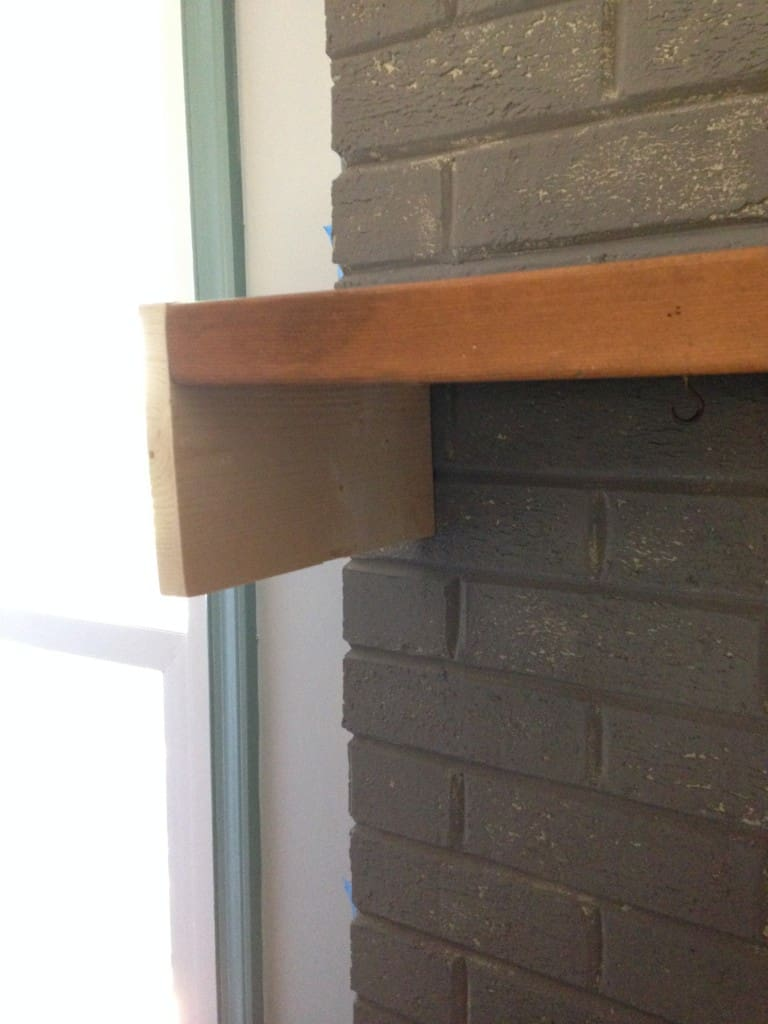fireplace shelf build sxs