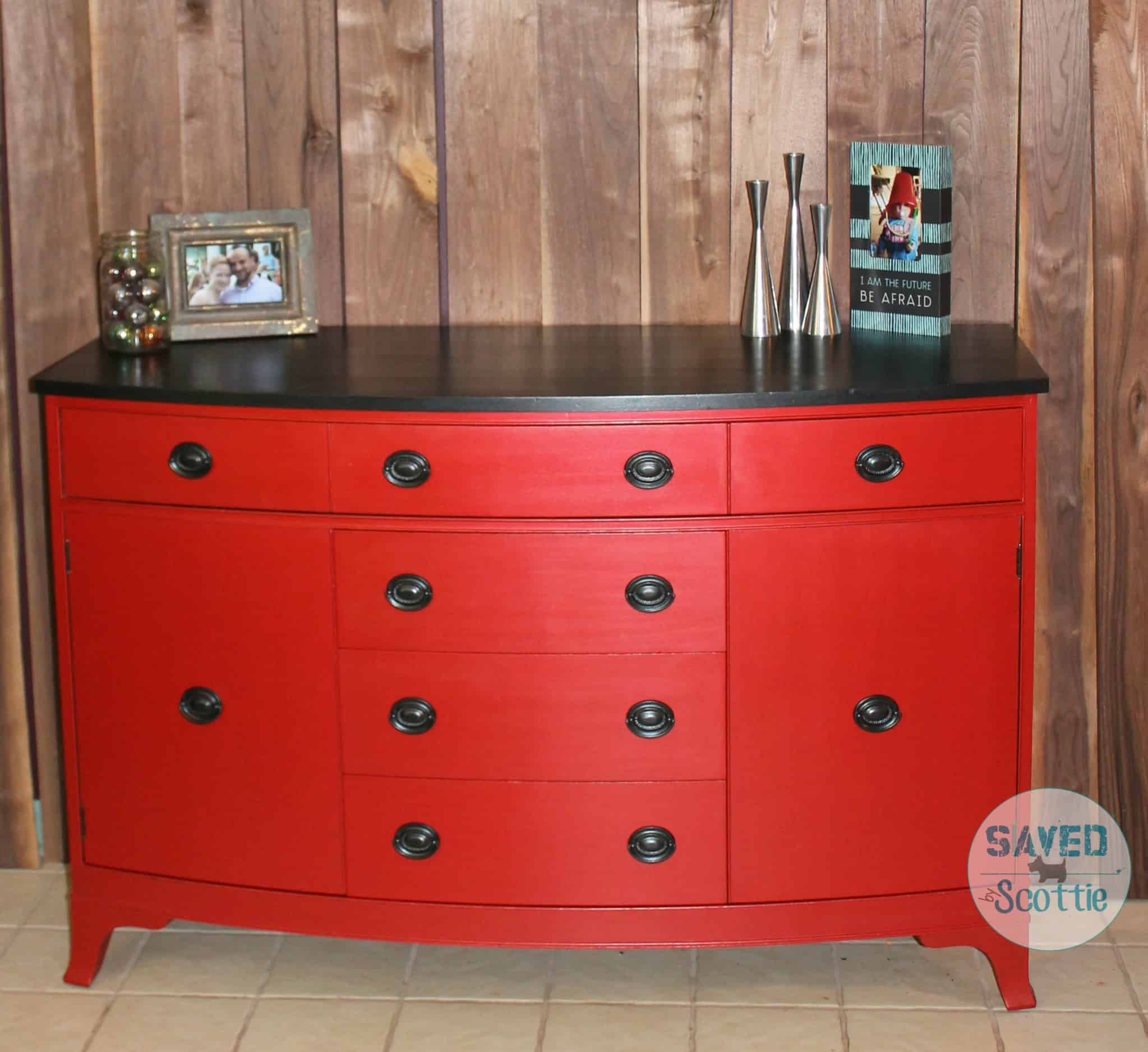 Beautiful ... Red Buffet Modern Masters Shabby Paints Sxs