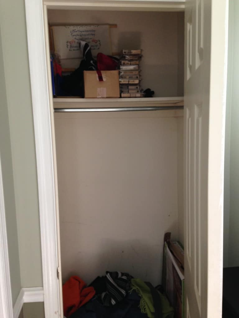 entry closet before sxs