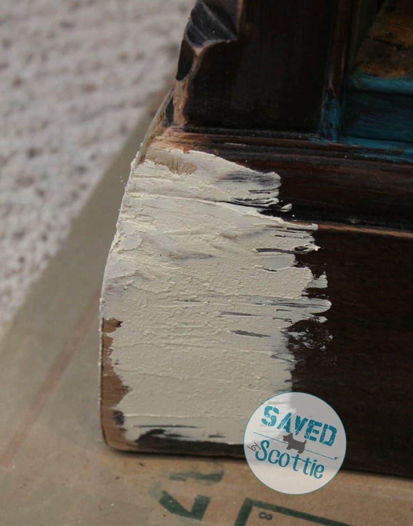 SxS shabby paints texture corner