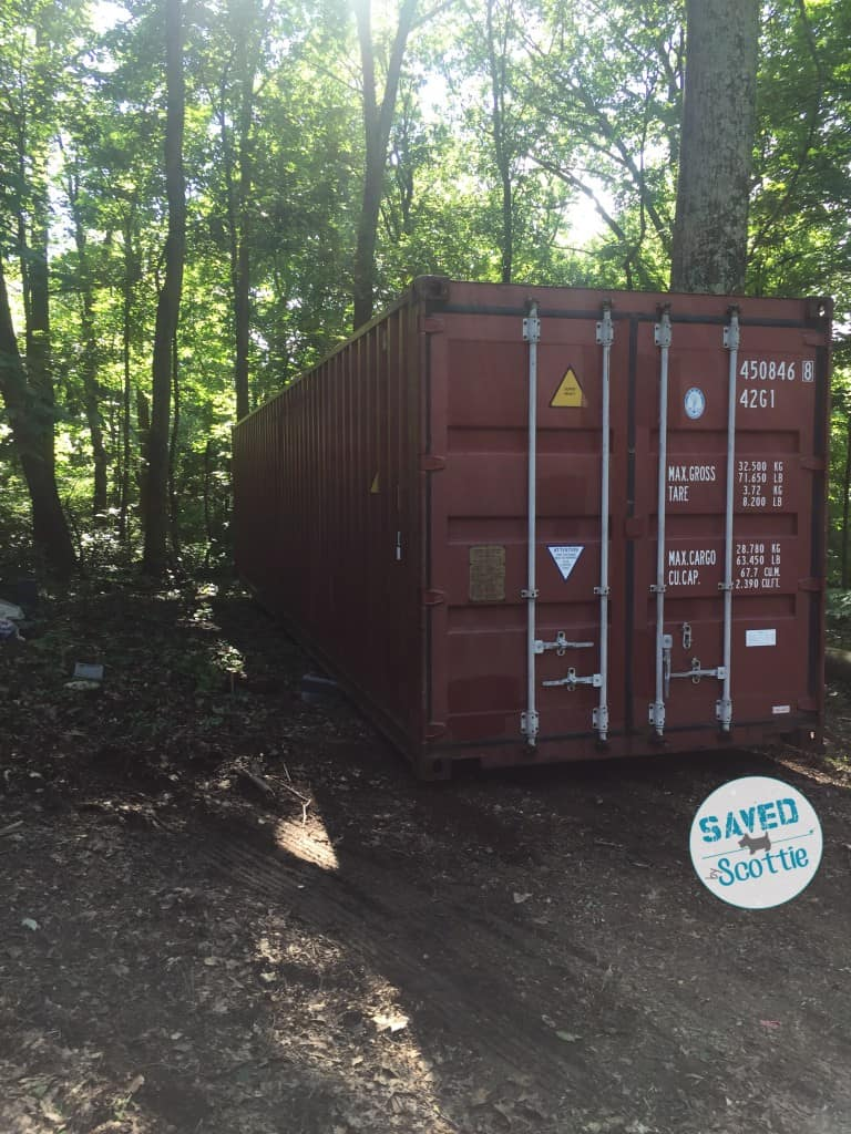 sxs container in place