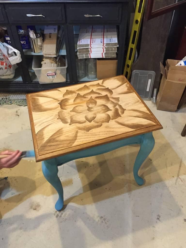 SxS flower table progress