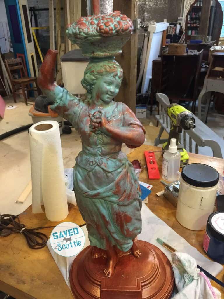 sxs copper lamp paint wash