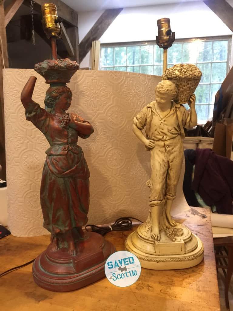sxs copper lamp twins