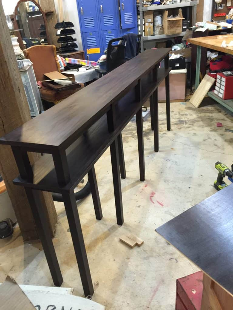 SXS sofa table in shop