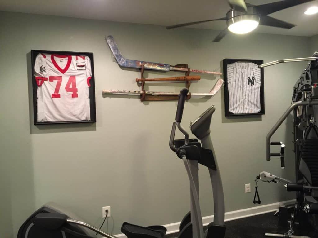 sxs home gym jersey wall