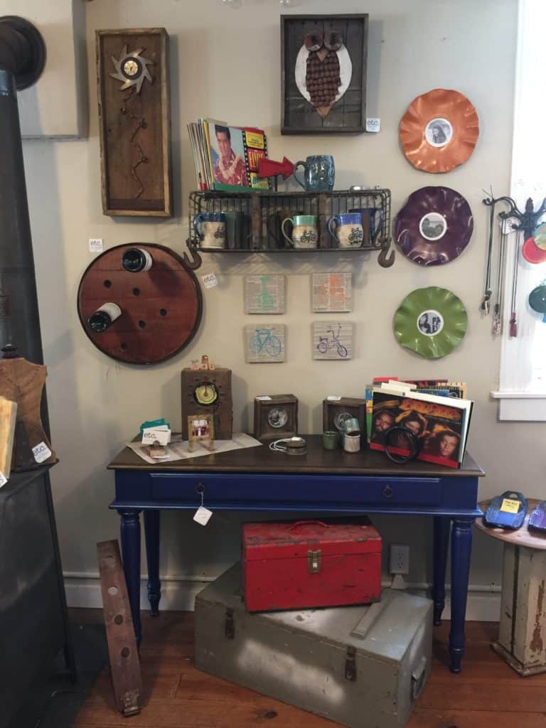 SxS side table in shop