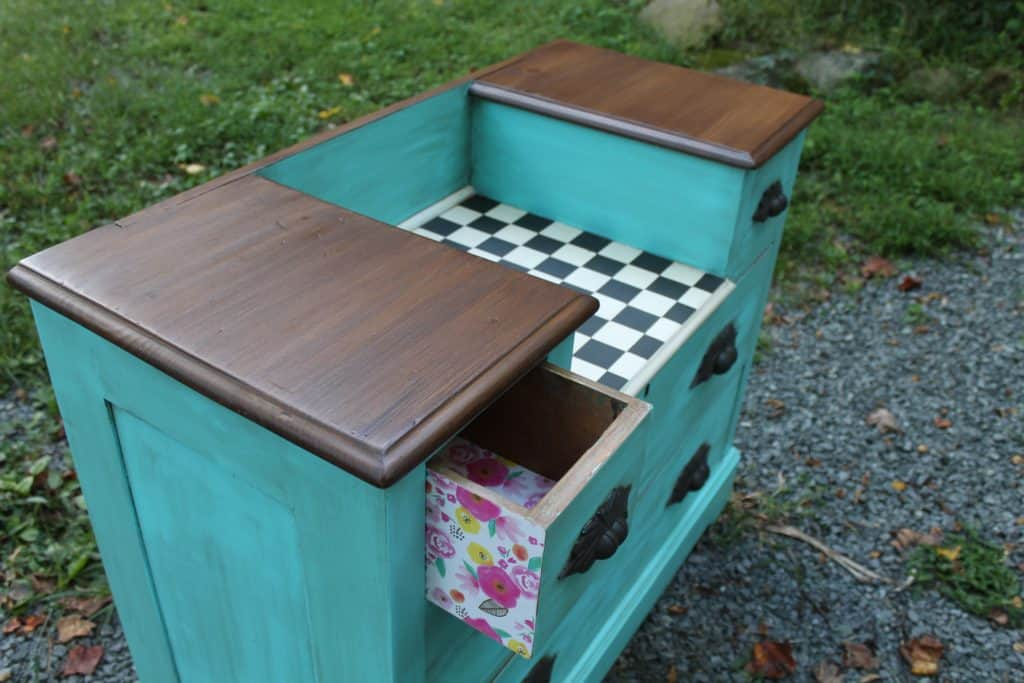 SXS checker after dresser with drawer peek