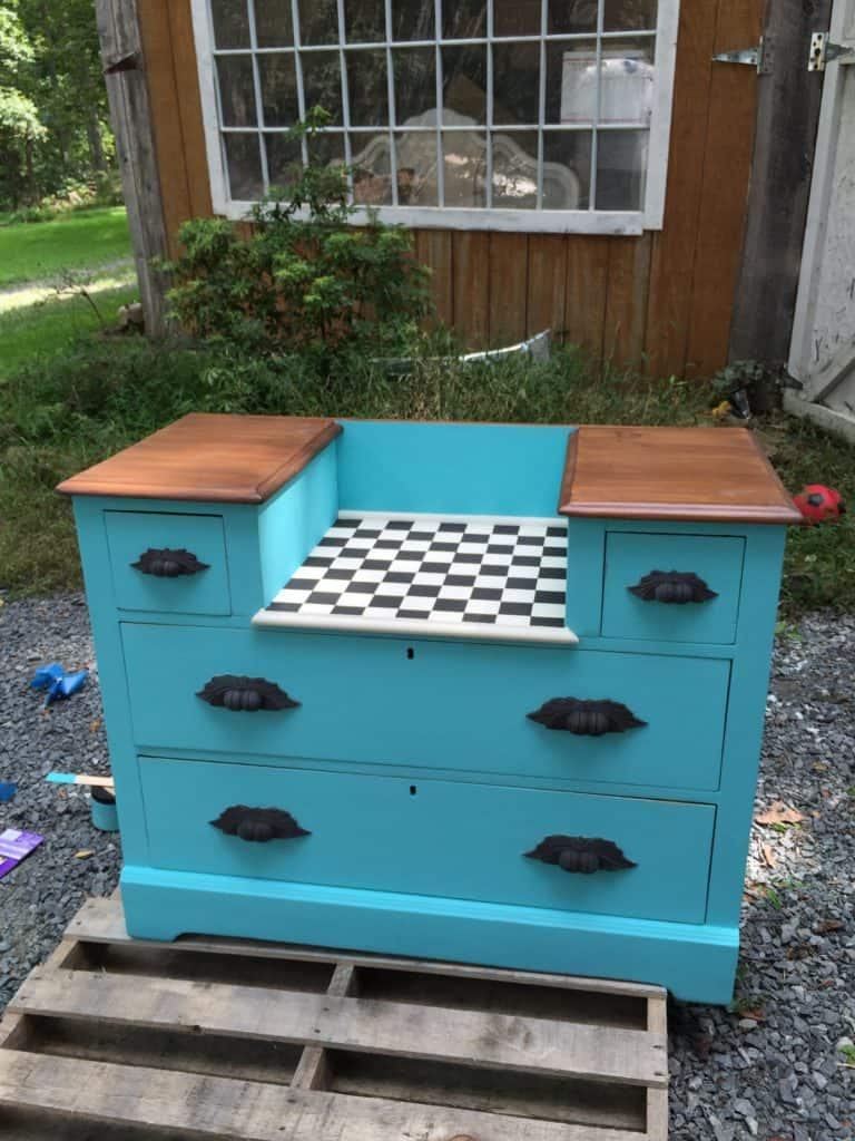 SXS checker dresser before glaze