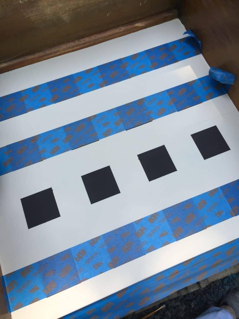 SXS checker dresser remove tape stage 1