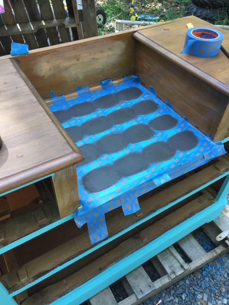 SXS checker dresser second coat paint