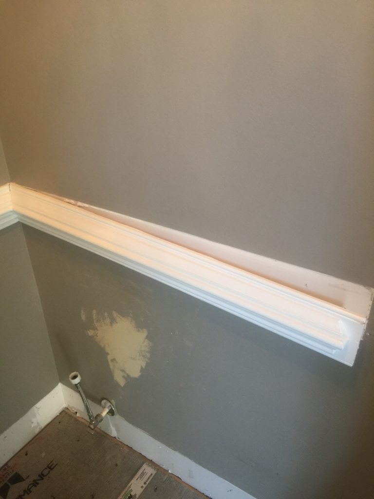 chair rail removal from wall