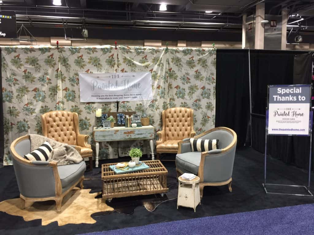 furnishings and decor display at the Philly Home Show 2017 done by The Painted Home