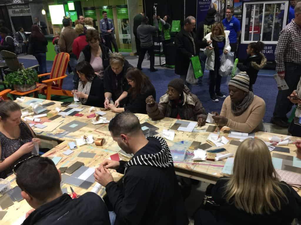 Aspect tile workshop at the 2017 Philly Home Show