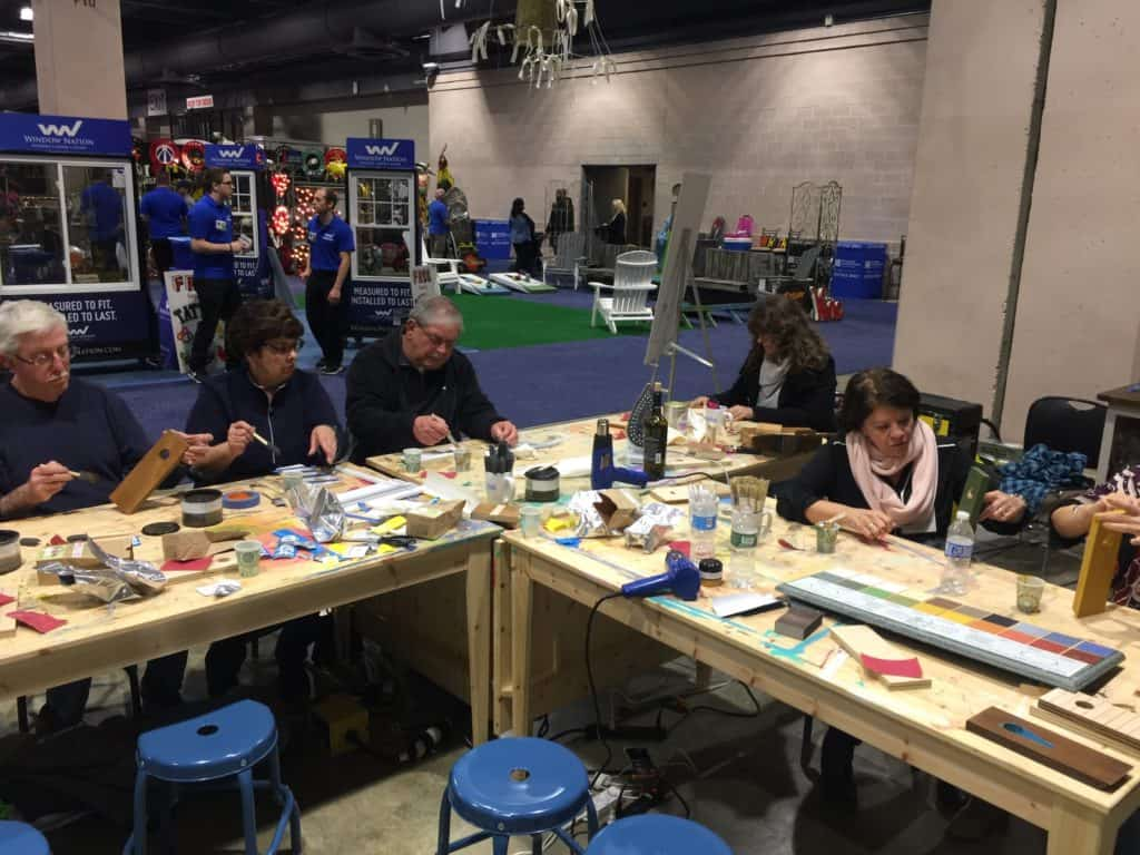 Pure Bond wine balancer workshop at the 2017 Philly Home Show