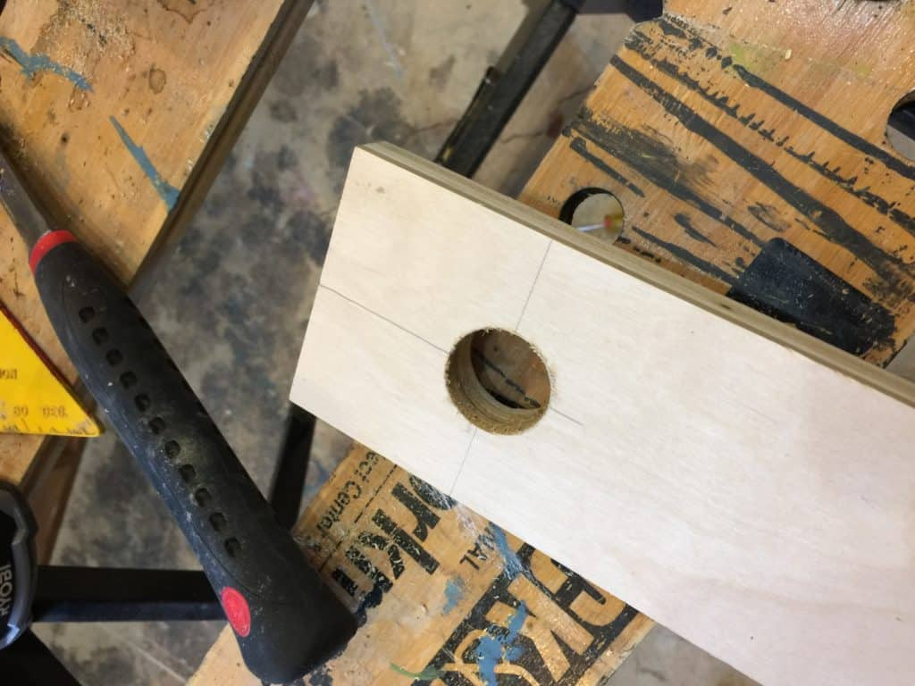 smooth hole with hole saw saved by scottie
