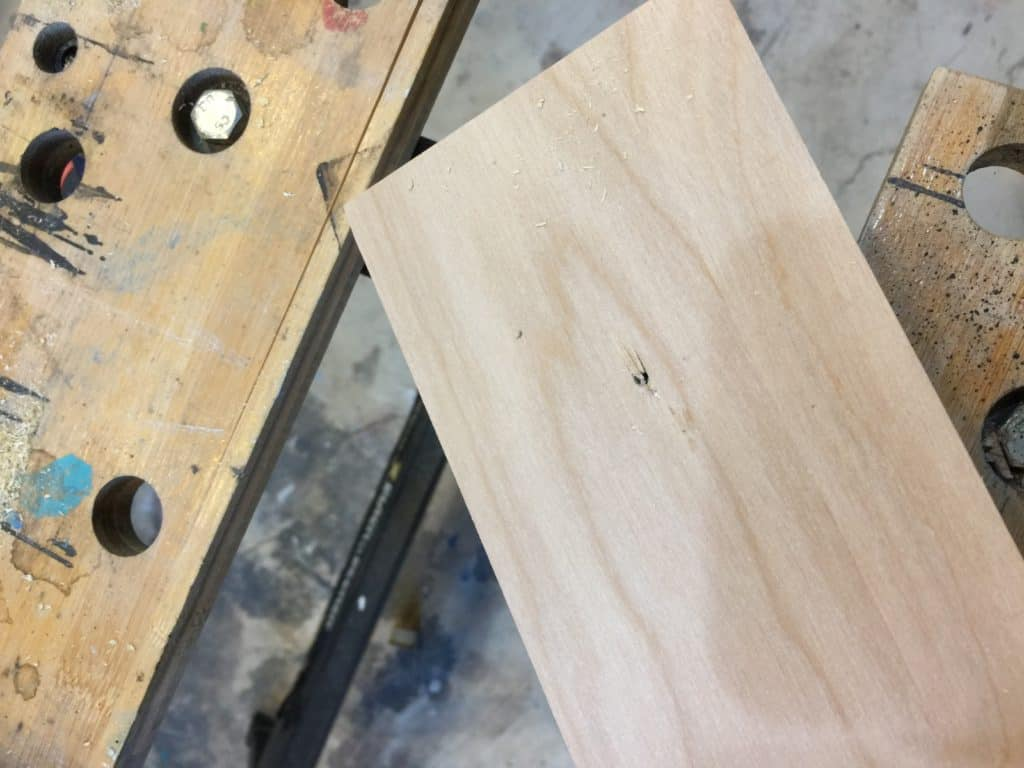 pilot hole for hole saw saved by scottie