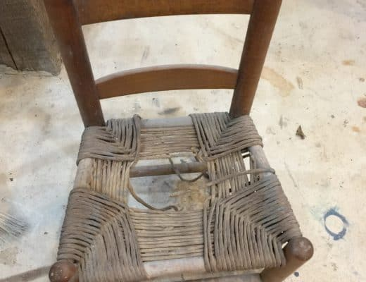 childs chair before rushing
