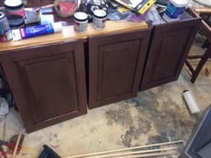 doors ready to be attached to credenza