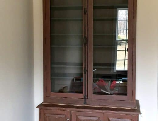 full front view of cabinet in place