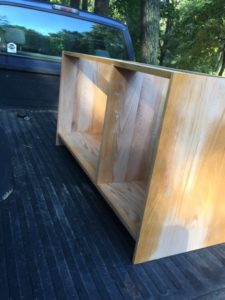 sides of expanded credenza