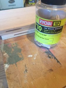 ryobi biscuits and slots in wood pieces