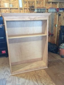 raw cabinet top after build