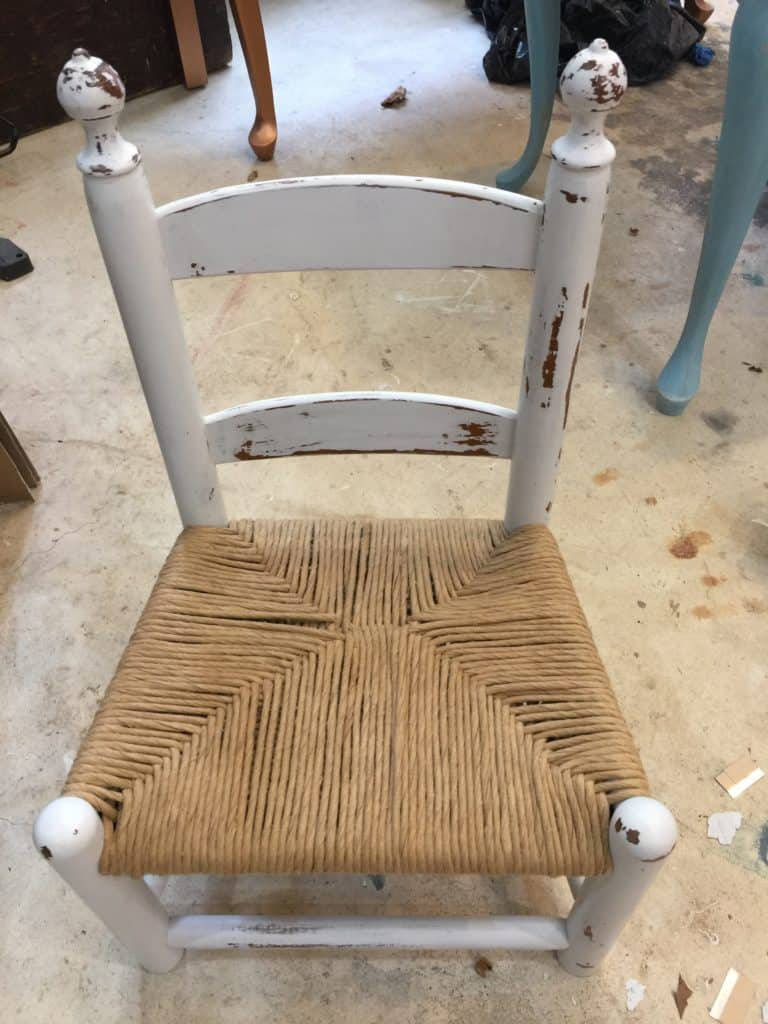 childs chair after new rushing