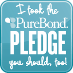 Pure Bond pledge button