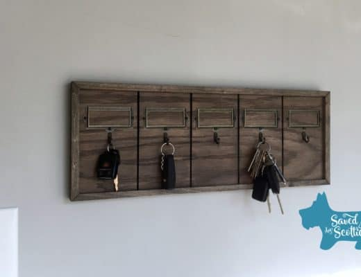 Saved by Scottie rustic key holder complete in place