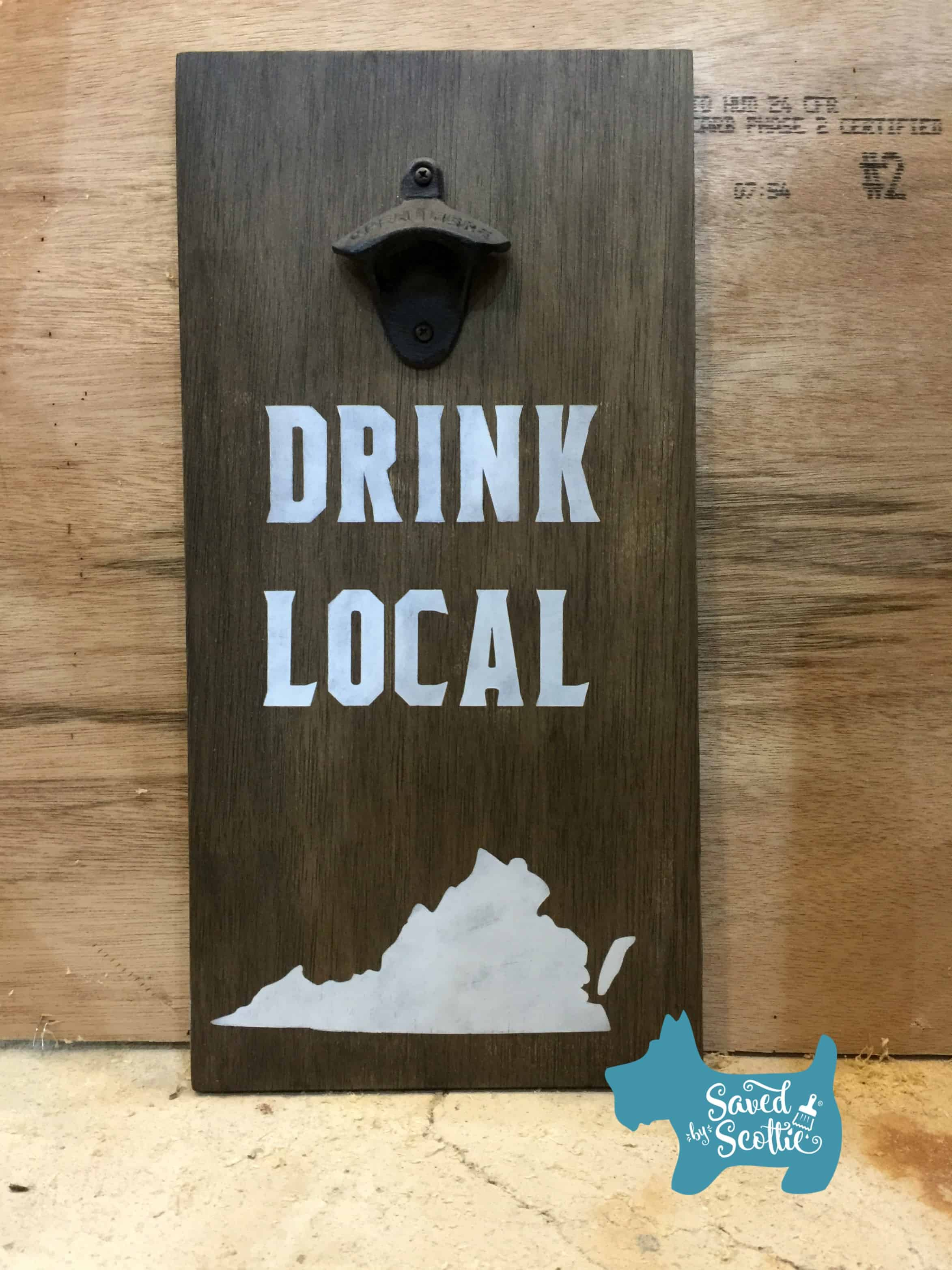 Saved by Scottie drink local sign finished