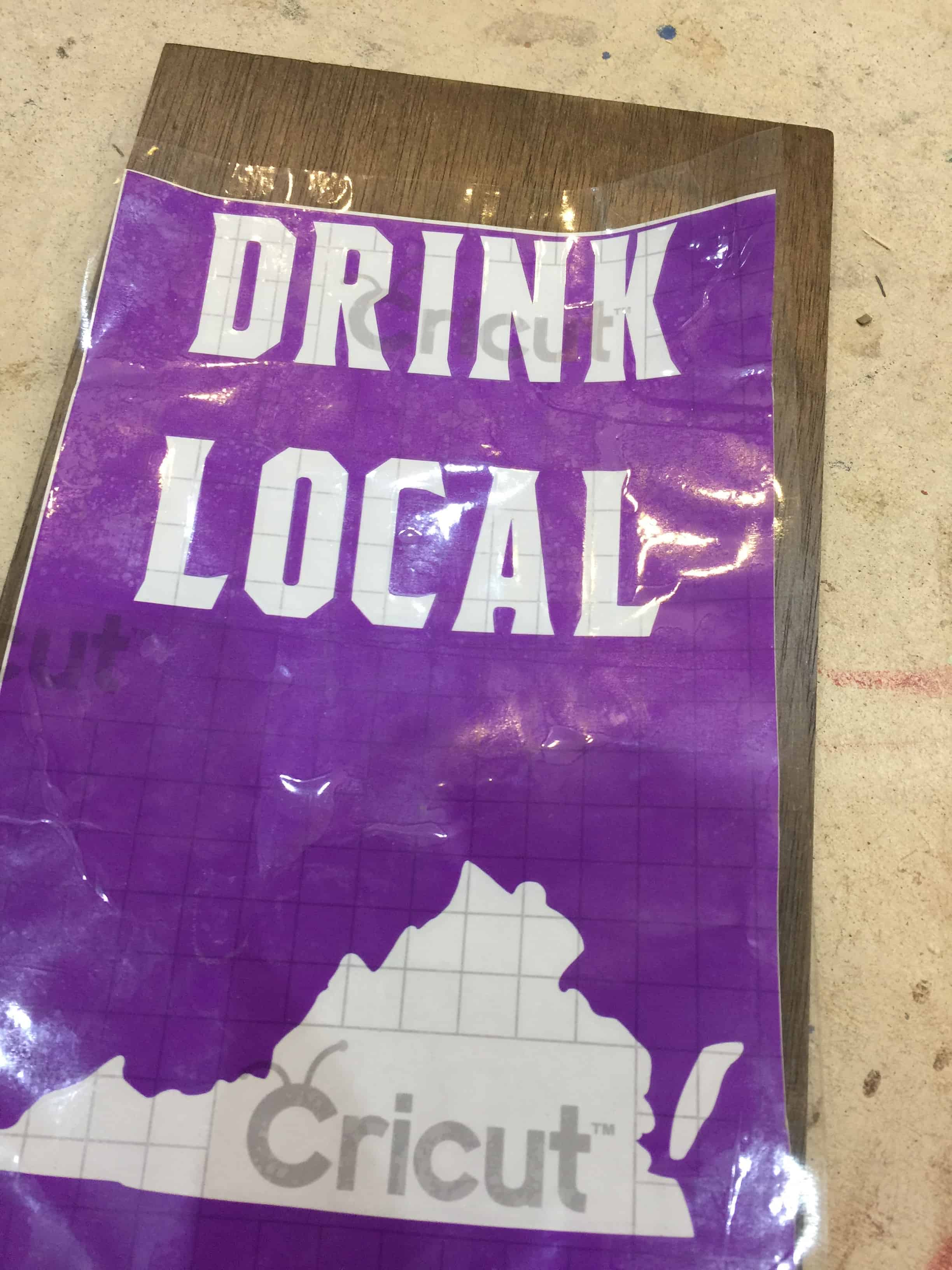 Saved by Scottie drink local vinyl with transfer tape