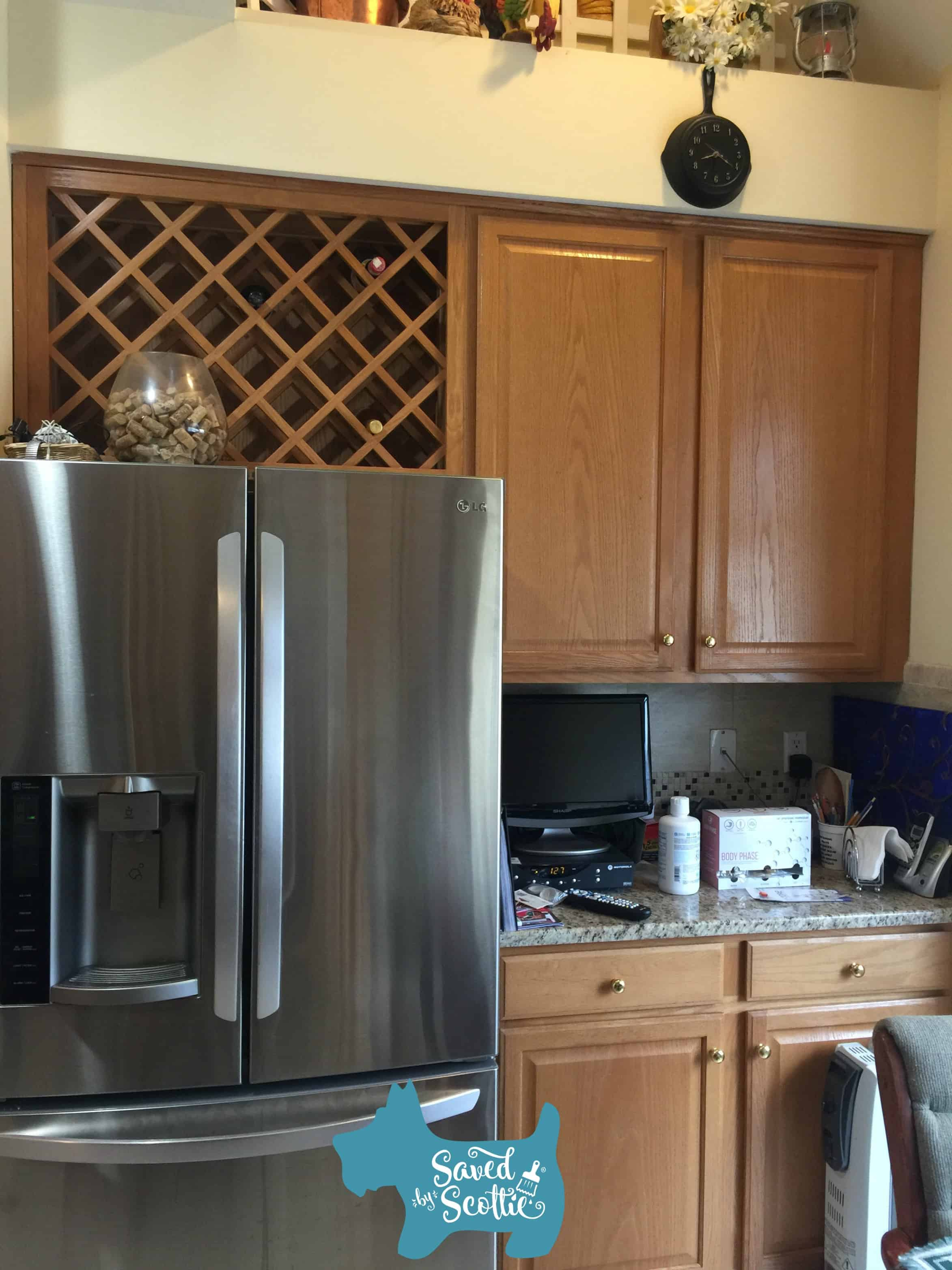 Saved by Scottie Alamo kitchen fridge before