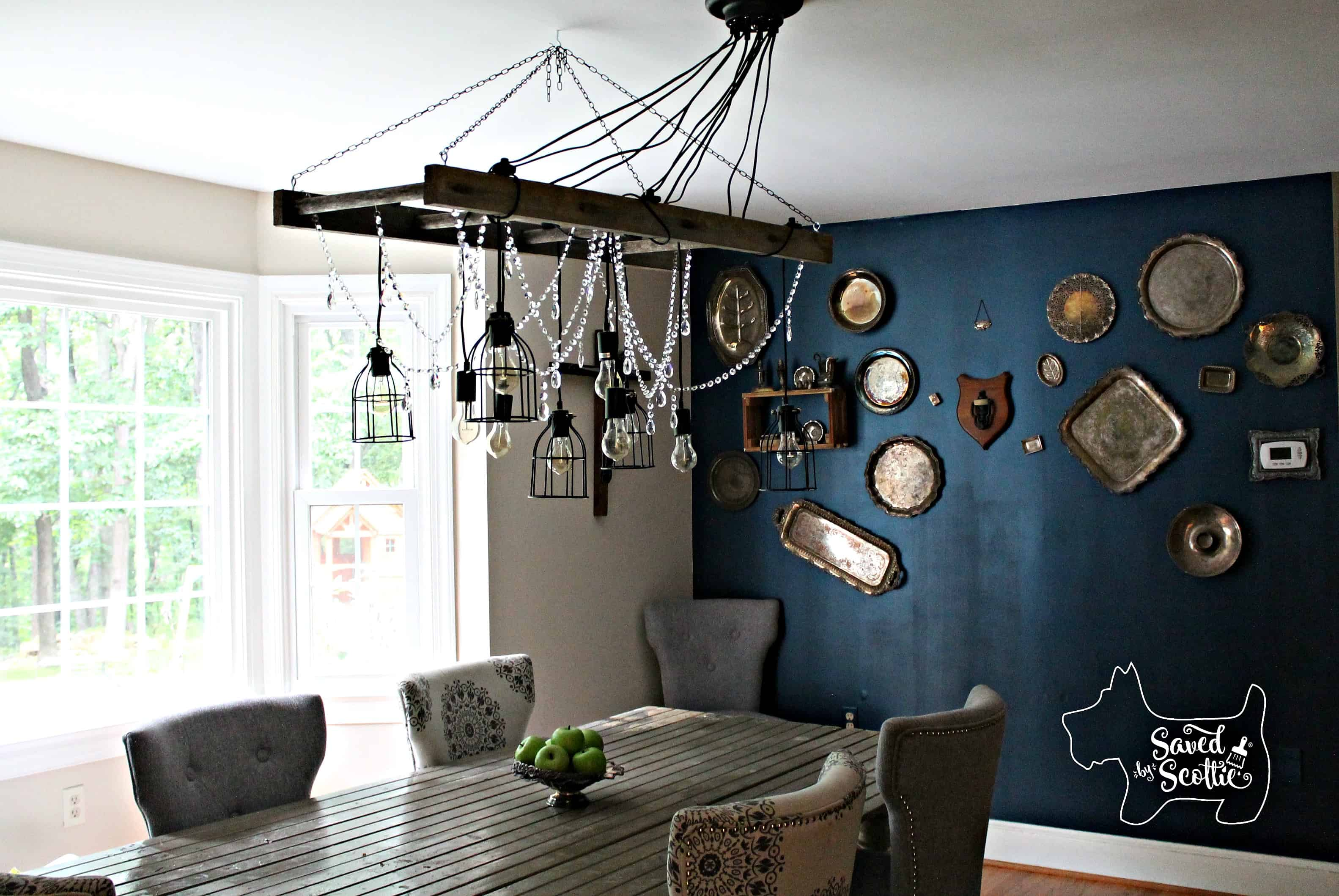 Saved by Scottie rustic chandelier after long view off