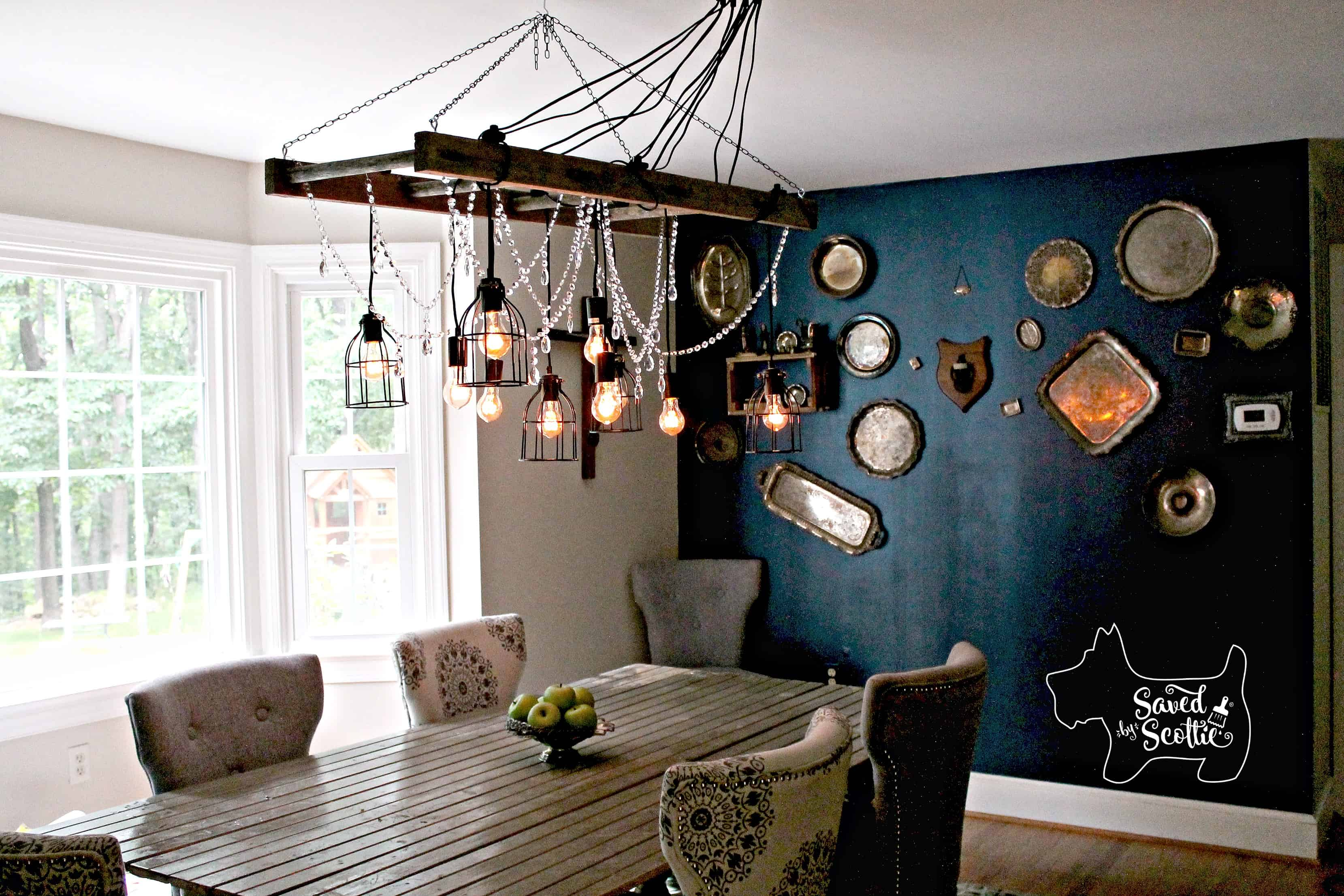 Saved by Scottie rustic chandelier after on long shot
