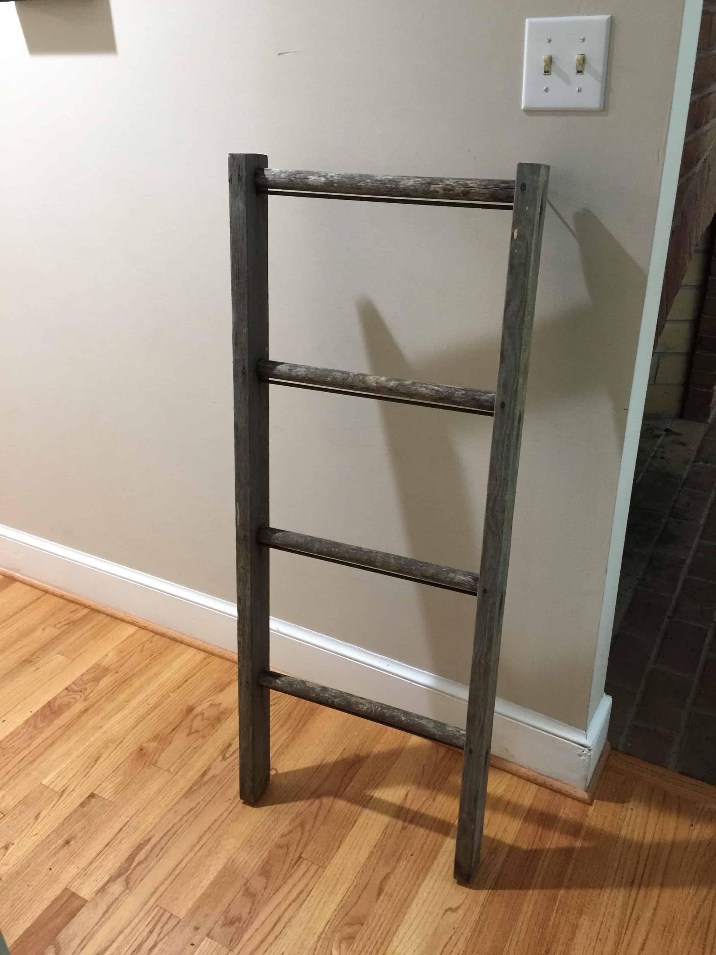 Saved by Scottie rustic chandelier ladder