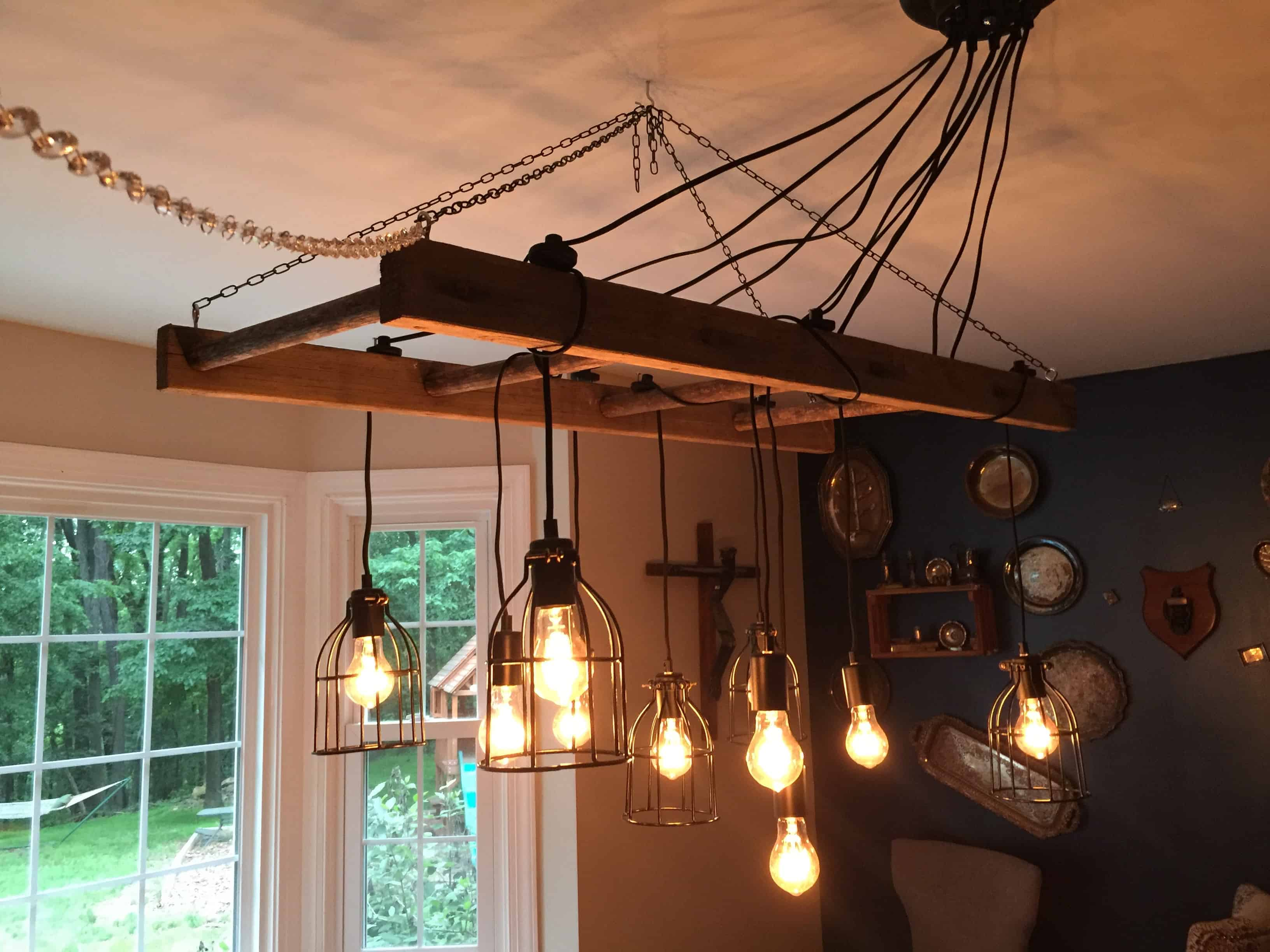 Saved by Scottie rustic chandelier lights on no crystals