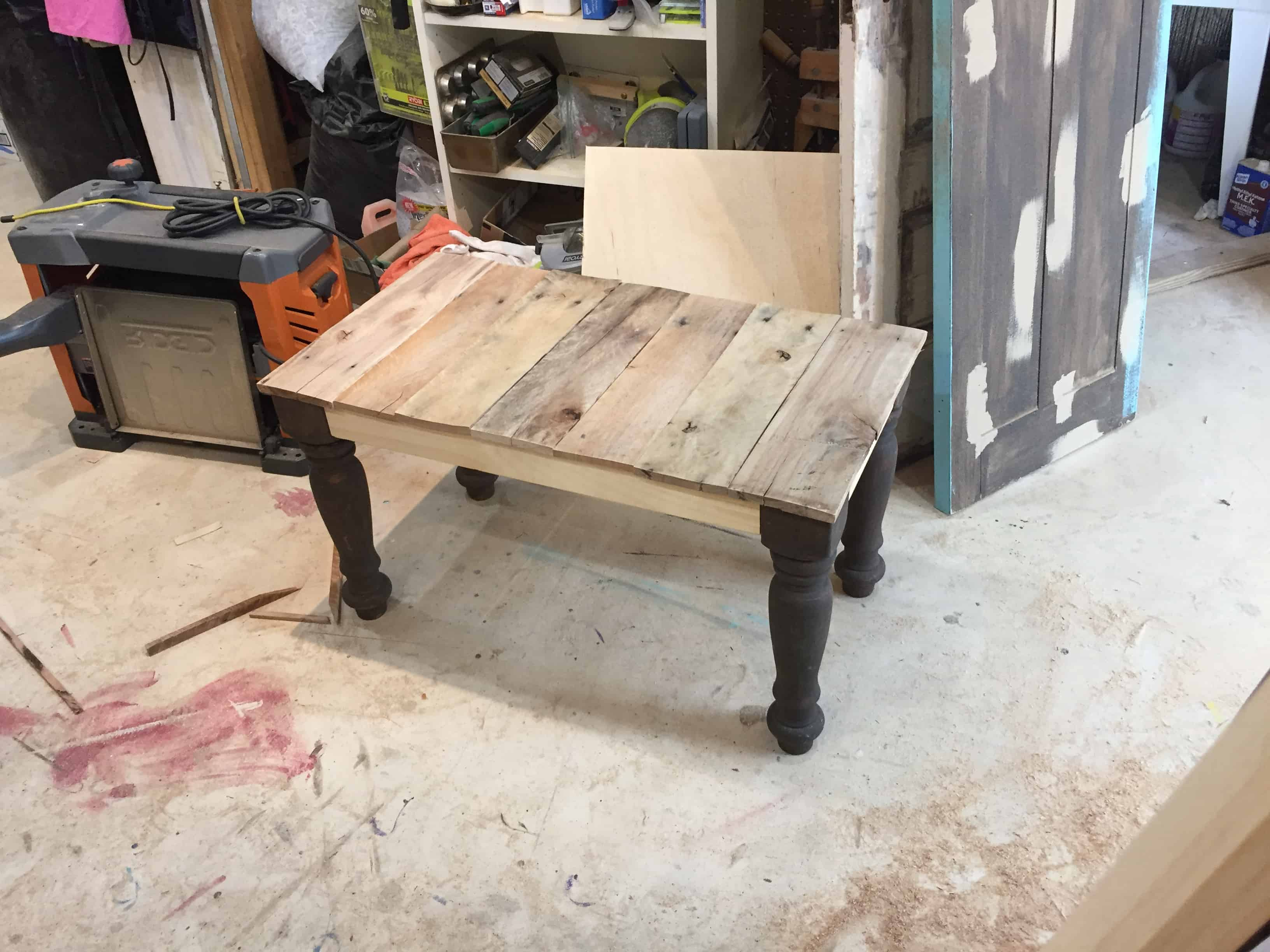 Saved by Scottie rv remodel coffee table build raw fit