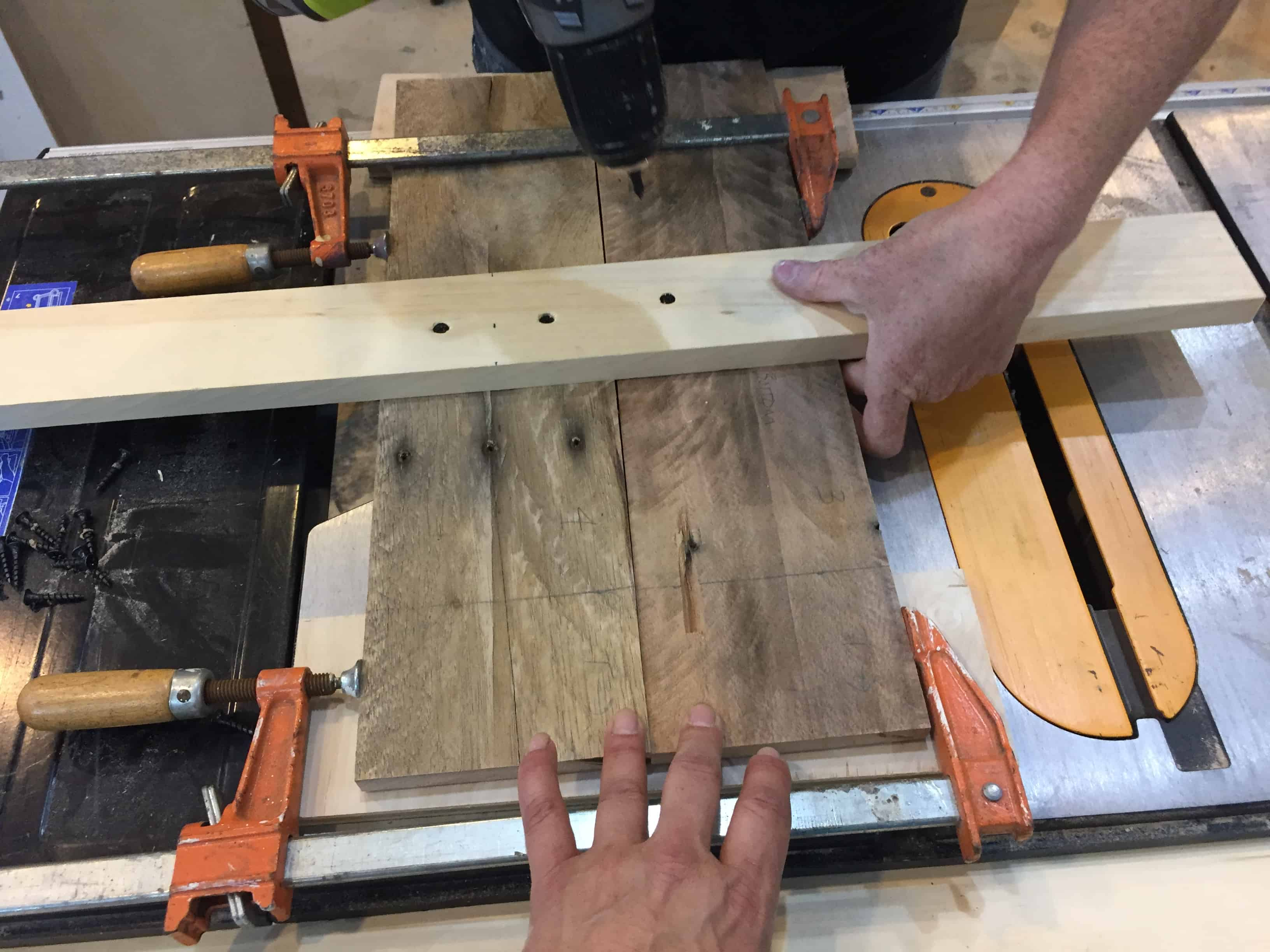 Saved by Scottie rv remodel coffee table build top assembly