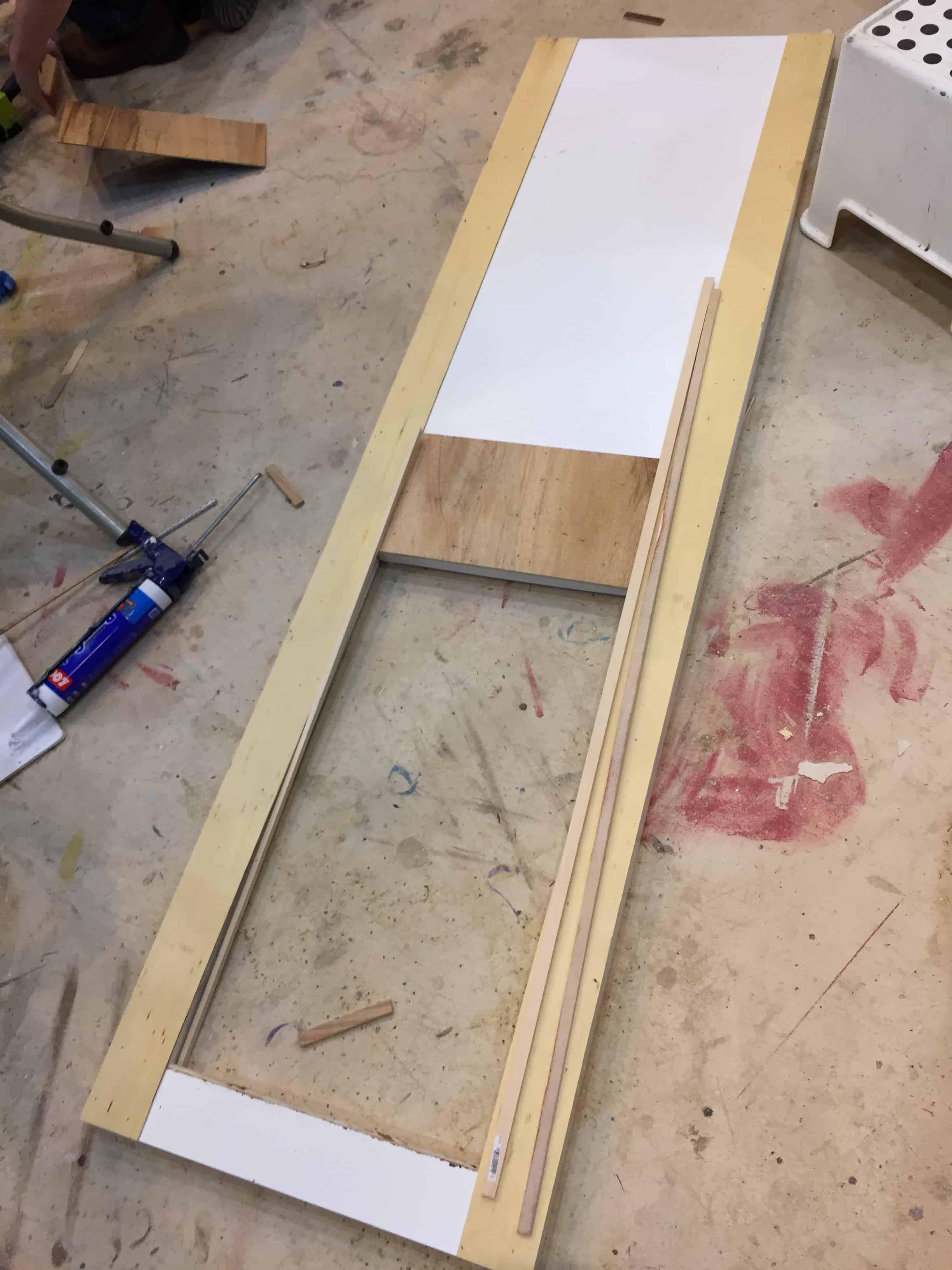Saved by Scottie rv remodel office door build trim add center