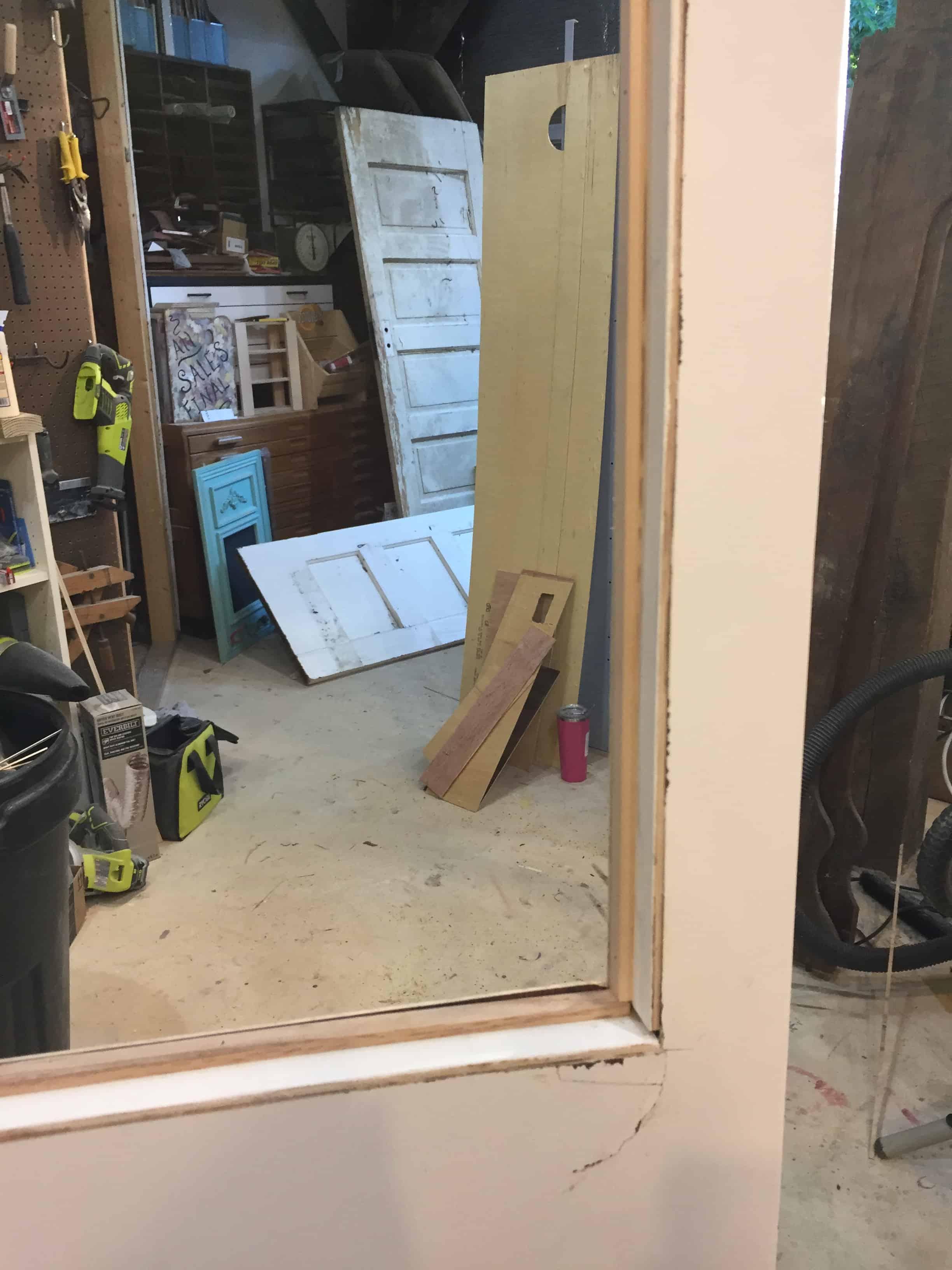Saved by Scottie rv remodel office door trim out window close upJPG