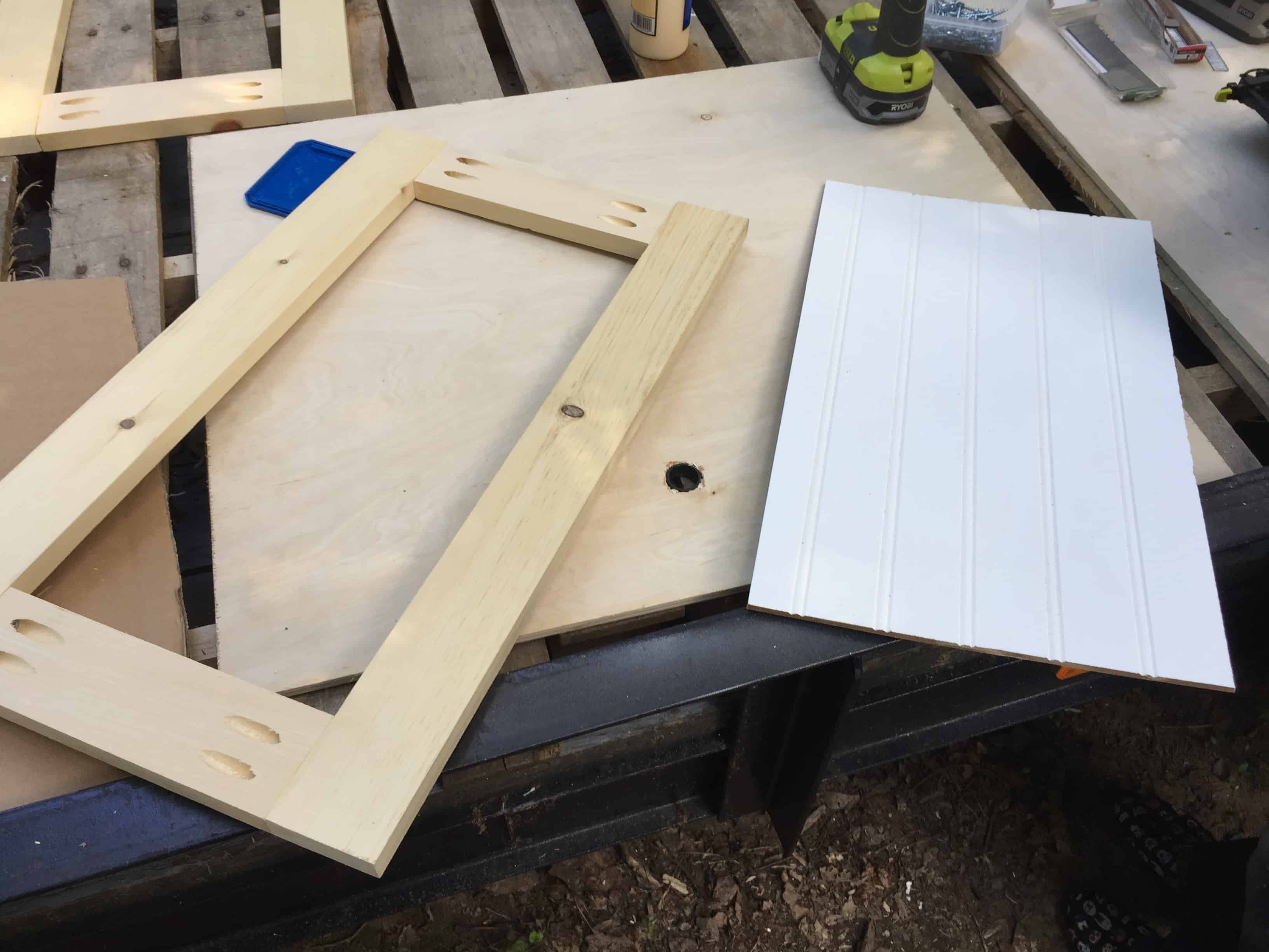 Saved by Scottie rv remodel storage cabinet build door assembly 2