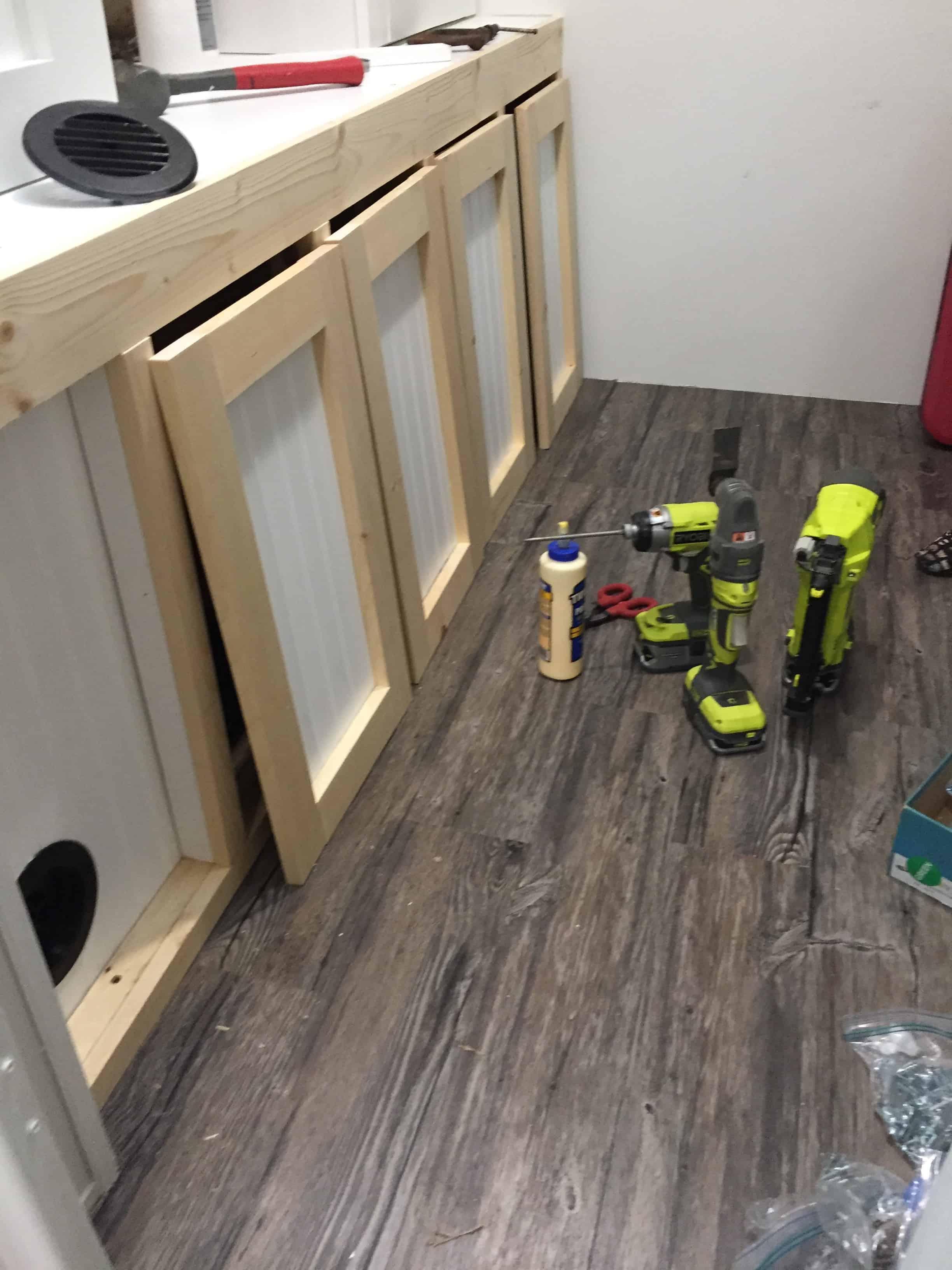 Saved by Scottie rv remodel storage cabinet build layout