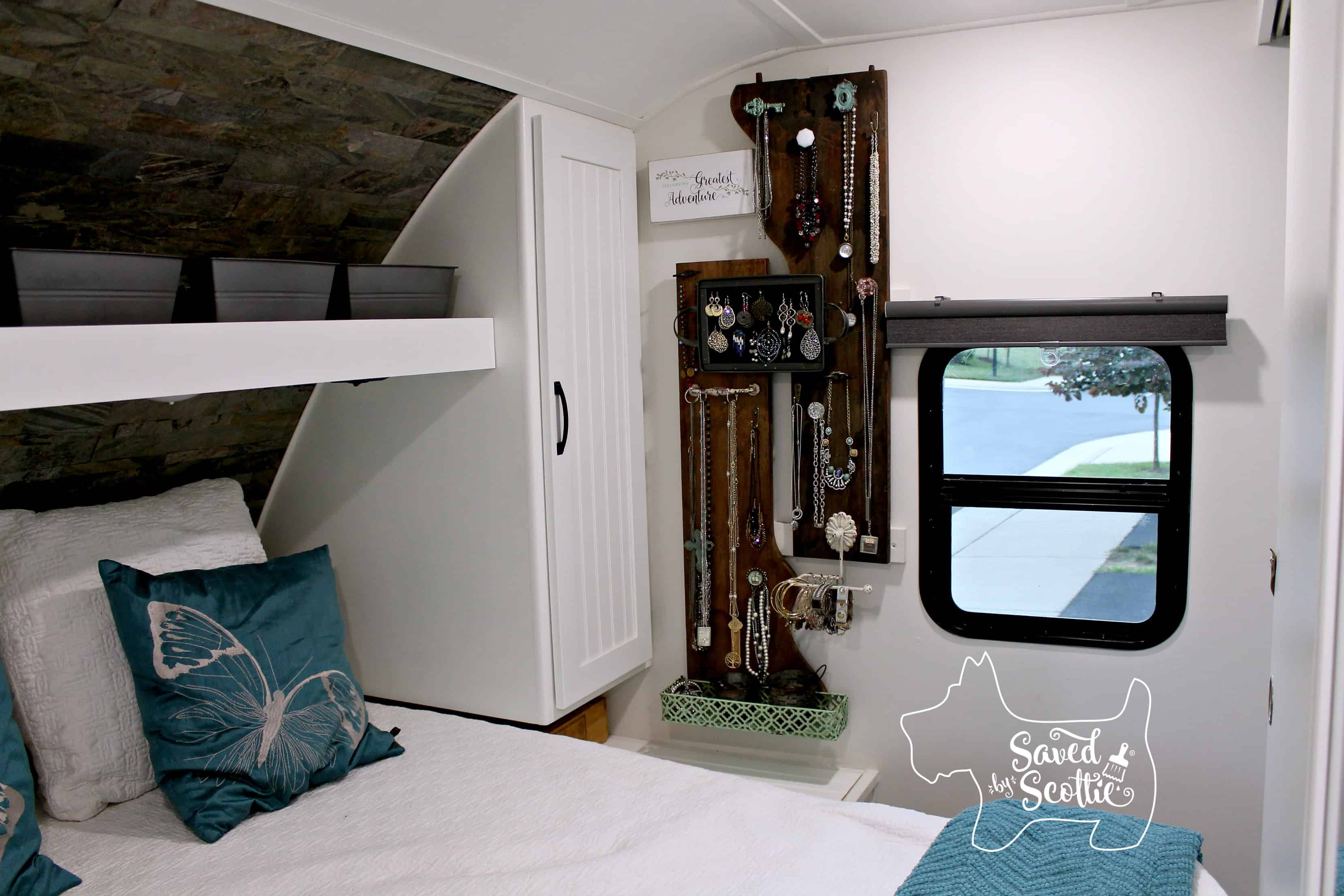 rv remodel after bedroom jewelry wall