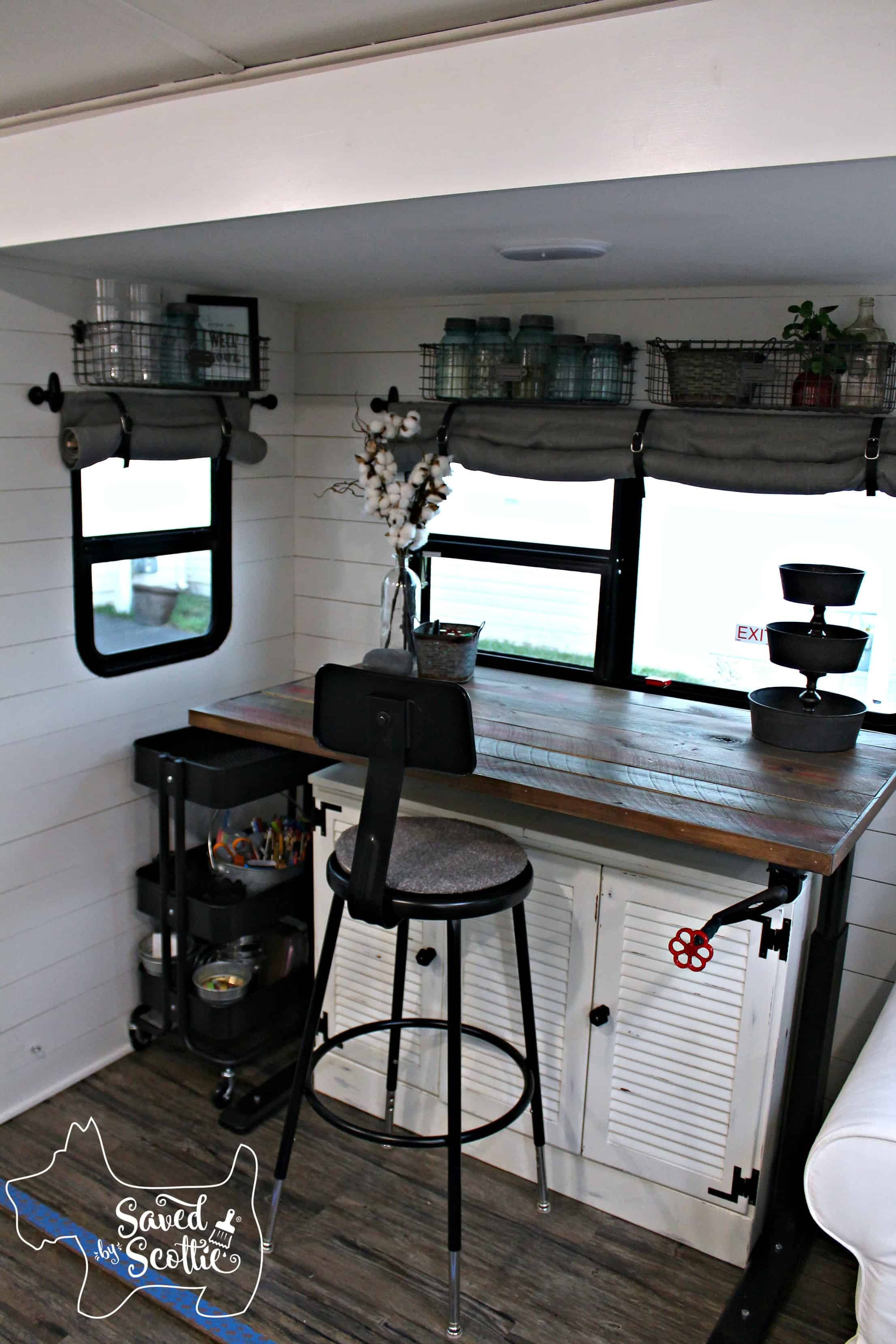 rv remodel after desk full view
